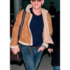 Daniel Craig Shearling Brown Leather Jacket