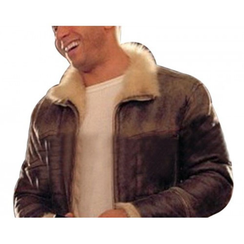 XXX Vin Diesel  Xander Cage Fur Shearling Leather Jacket