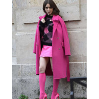 Inspiration Lily Collins Emily In Paris Trench Coat