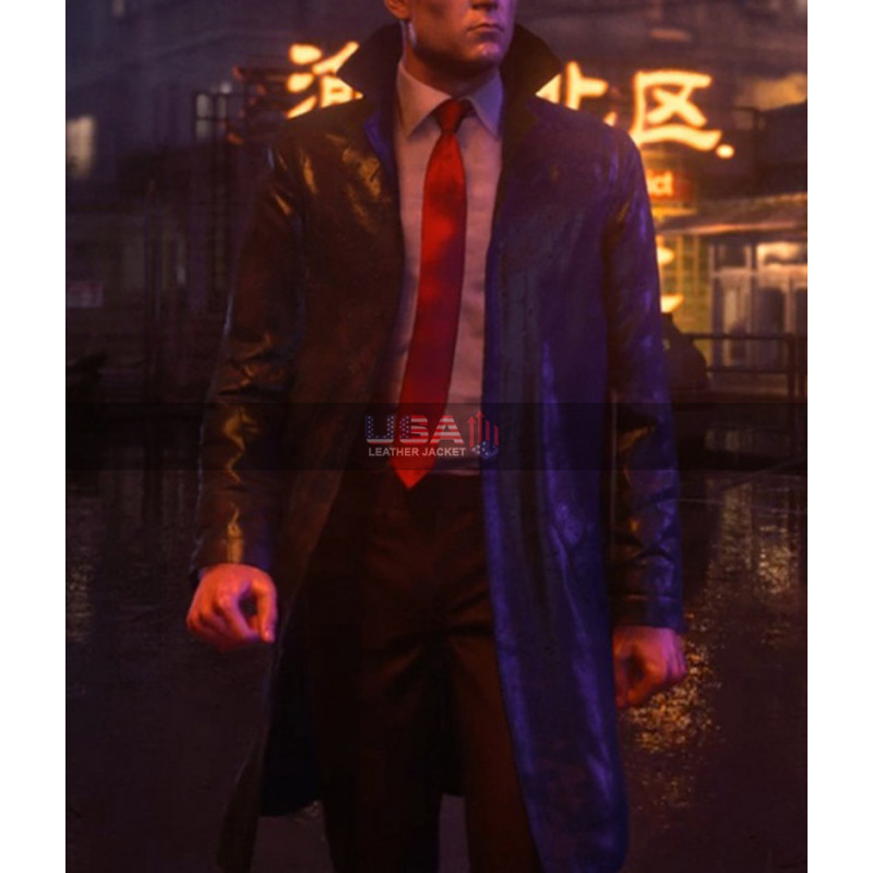 Hitman 3 Agent 47 Leather Trench Coat