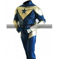Smallville Booster Gold Leather Costume Pants Jacket