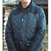 Danny Huston Yellowstone Sea Blue Quilted Jacket