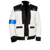 Detroit Become Human Android RK900 Upgraded Connor Leather Jacket