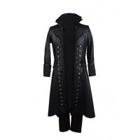 Colin O'Donoghue Once Upon Time S5 Captain Hook Leather Coat
