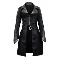 The Flash Caitlin Snow (Danielle Panabaker) Black Leather Coat