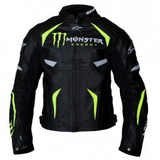 Alpinestars Monster Energy Scream Motorcycle Black Leather Jacket
