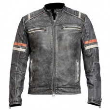 Cafe Racer Men's Retro 2 Biker Jacket