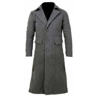 The Hunter Game Costume Bloodborne Grey Wool Trench Coat