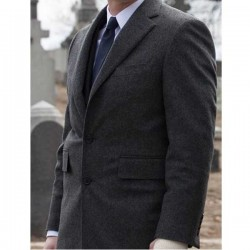 Ben McKenzie Charcoal Gordon Coat