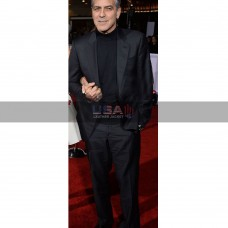 George Timothy Clooney Hail, Caesar! Premiere Black Party Suit