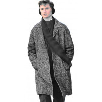 The Goldfinch Ansel Elgort Grey Wool Trench Coat