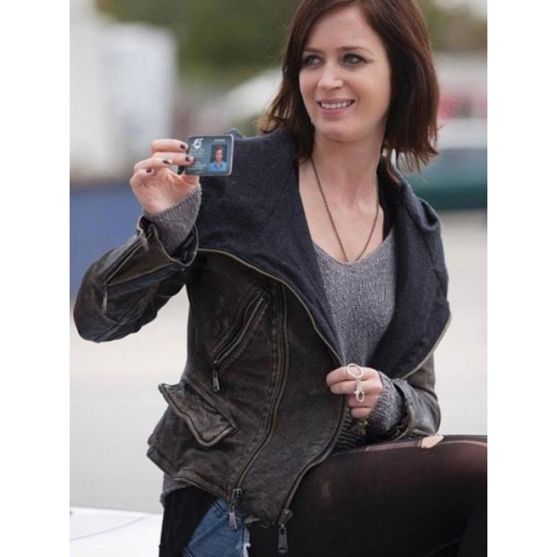 Arthur Newman Mike (Charlotte Fitzgerald) Hood Leather Jacket