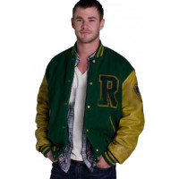 Cabin in the Woods Curt Vaughan R Logo Letterman Bomber Jacket