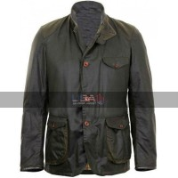 Skyfall Movie Daniel Craig Barbour Leather Jacket