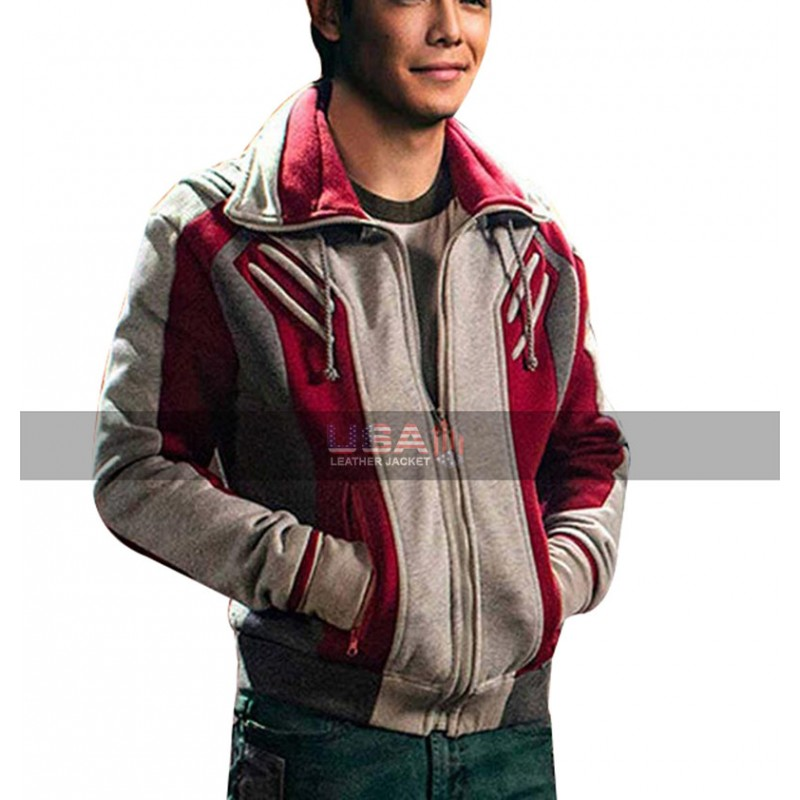 Ryan Potter Beast Boy Titans Gar Logan Bomber Costume Wool Jacket