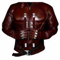 Daredevil Costume Charlie Cox Red Leather Jacket Fore Men's