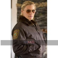 Longmire Katee Sackhoff Aviator Fur Collar Jacket