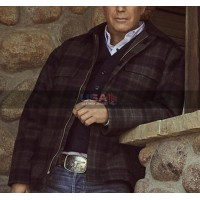 Yellowstone Outfits Kevin Costner Plaid Jacket