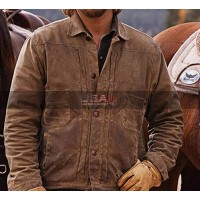 Yellowstone Kayce Dutton Leather Brown Jacket