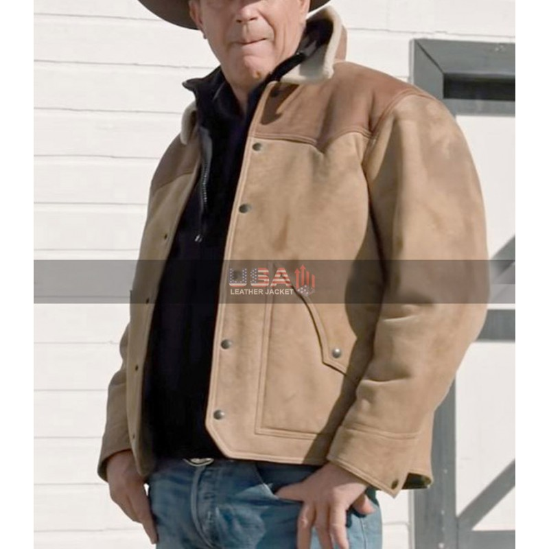 Yellowstone John Dutton Suede Leather Jacket
