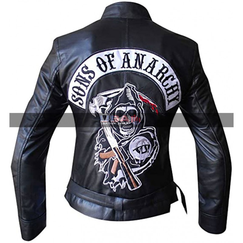 Women Sons Of Anarchy Black Leather Jacket