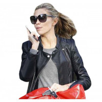 Abigail Clancy Womens Motorcycle Black Leather Jacket
