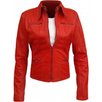 Once Upon a Time Emma Swan Costume Red Leather Jacket