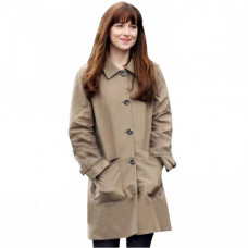 Anastasia Steele Clothing Costume Brown Leather Trench Coat