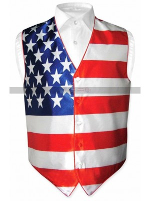 Independence Day Men's Gear Tuxedo American Flag Vest