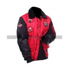 Top Gun 2 Movie Maverick Mitchell Flight Jet Pilot Parachute Tom Cruise Red Bomber Jacket