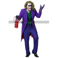 Batman Dark Knight Men's Halloween Grand Heritage Collection Joker Costume Coat