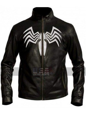Eddie Brock Spider Man 3 Venom Costume Black Leather Jacket