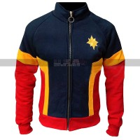 Carol Danvers Captain Marvel Brie Larson Fleece Costume Jacket | Unisex Tracksuit
