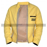 Men's Mark Hamill Star Wars A New Hope Costume Luke Skywalker Yellow Cotton Jacket