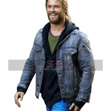 Chris Hemsworth Thor Ragnarok (Thor) Grey Denim Jacket
