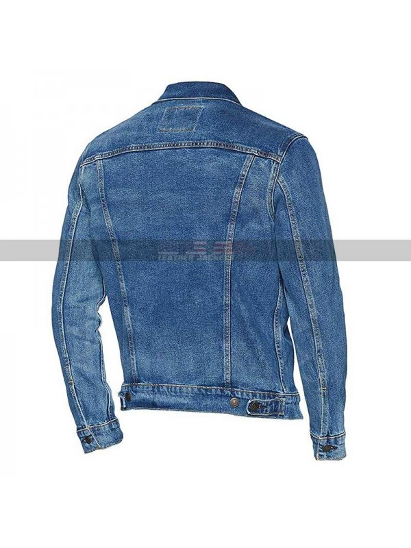 Dwayne Johnson Fast & Furious Presents Hobbs & Shaw Rock Blue Denim Jacket