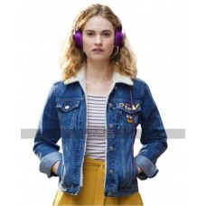 Baby Driver Lily James Debora Blue Denim Jacket