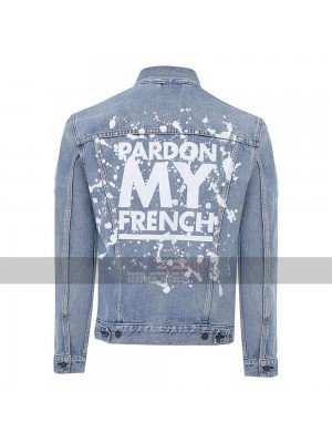 Pardon My French DJ Snake Sky Blue Denim Jacket