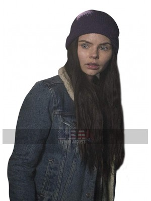 Eline Powell Siren TV Series Ryn Denim Blue Sherpa Jacket