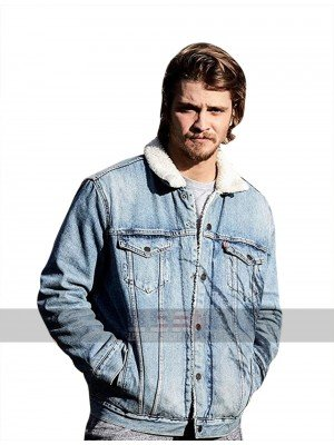 Kayce Dutton Yellowstone Luke Grimes Fur Collar Blue Denim Jacket