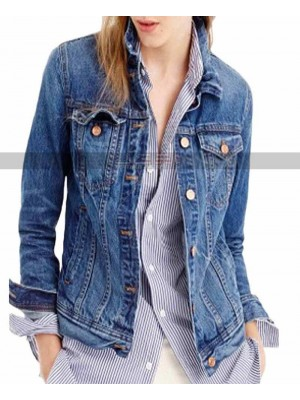 13 Reasons Why Hannah Baker Costume Denim Jacket