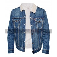 Riverdale Cole Sprouse Blue Denim Fur Jacket