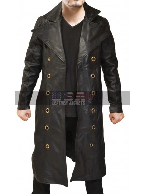 Deus Ex Human Revolution Adam Jensen Game Leather Coat