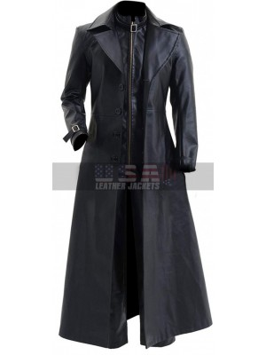 Resident Evil 5 Albert Wesker Black Costume Trench Leather Coat