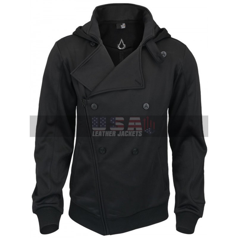 Assassin's Creed Callum Lynch Black Costume Hoodie Jacket