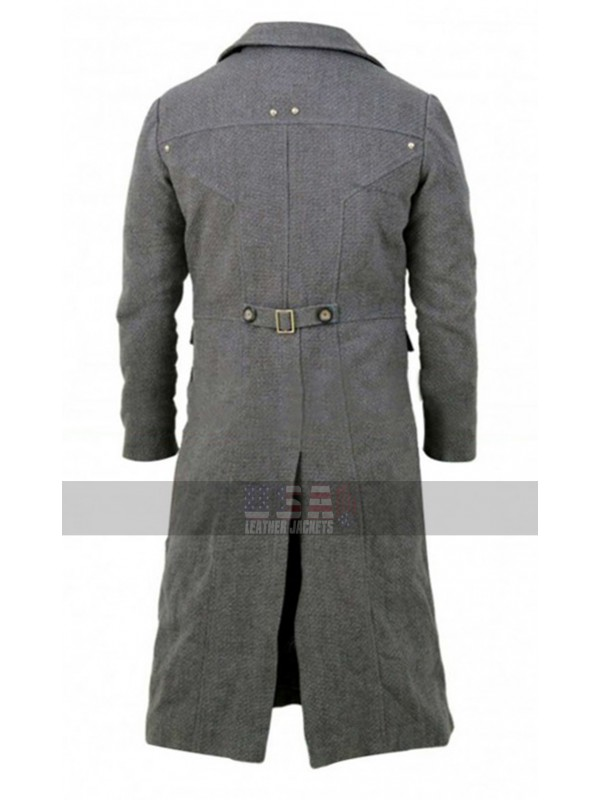 The Hunter Game Bloodborne Grey Costume Wool Trench Coat