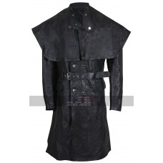 Bloodborne Yharnamite Cosplay Gothic Trench Costume Black Leather Coat