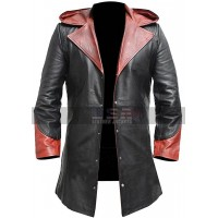 Devil May Cry Dante Slayer Trench Costume Hooded Leather Coat