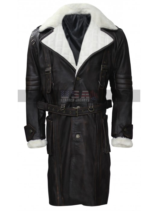 Fallout Brotherhood of Steel Elder Maxson Fur Collar Leather Coat
