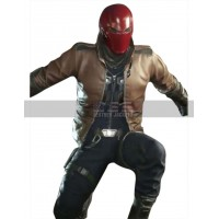 Injustice 2 Batman Red Hood Costume Leather Jacket